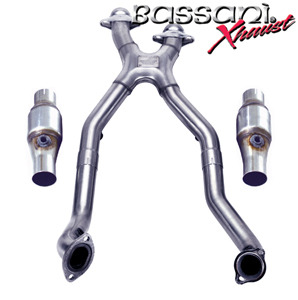 Bassani BX Mid Pipes w/Cats 2003-04 Mustang Cobra – Aluminized