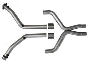 11-13 Mustang V6 BBK Hi Flow X Pipe With Catalytic Converters