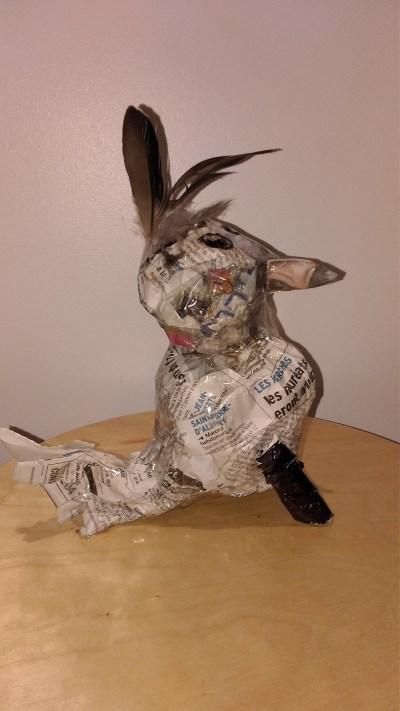 P'Ang poule recyclée Création de Cyrielle (5 ans et demi)