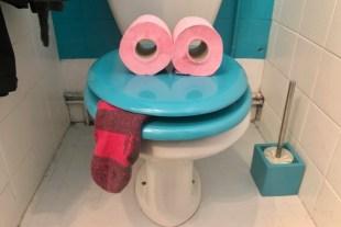 WC déguisé pour s'amuser