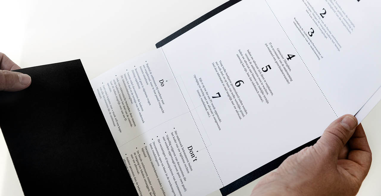 Brand identity for a leading tax law firm in Belgium.