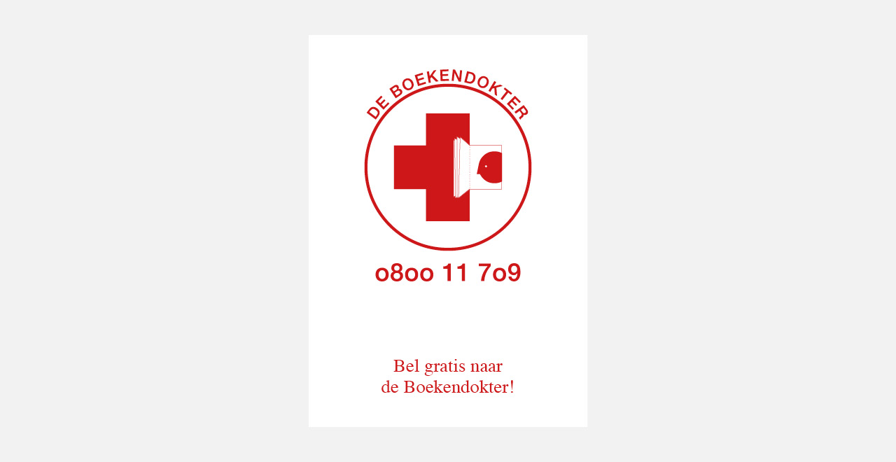 Brand identity, illustrations and campaign for 'De Boekendokter'