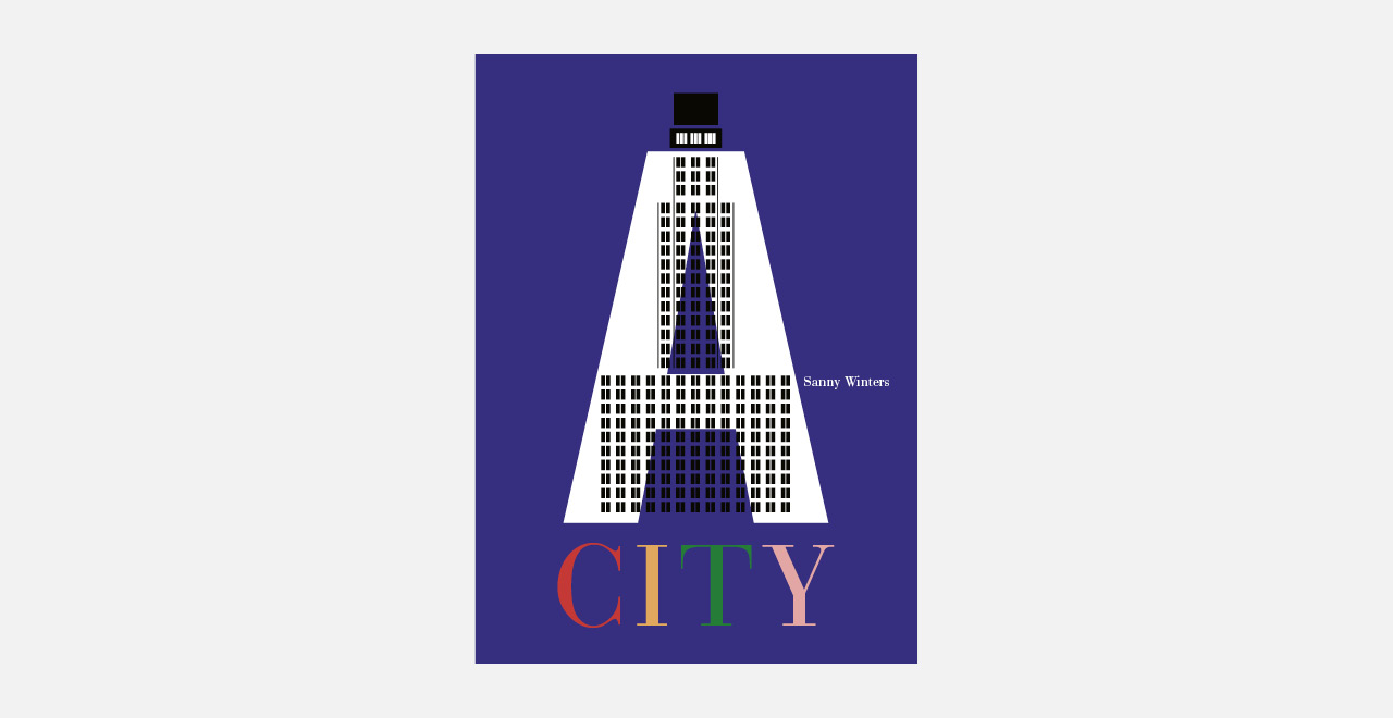 A CITY, a book by Sanny Winters shows Antwerp in ten strong and colourful graphic images