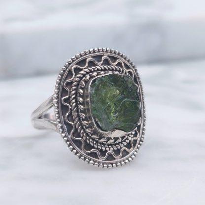 ring groene toermalijn