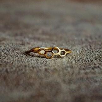 Ring | Verguld sterling zilver Miel - goud