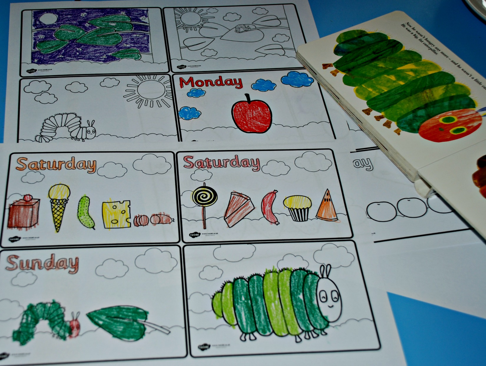 Very Hungry Caterpillar Sequencing Worksheet