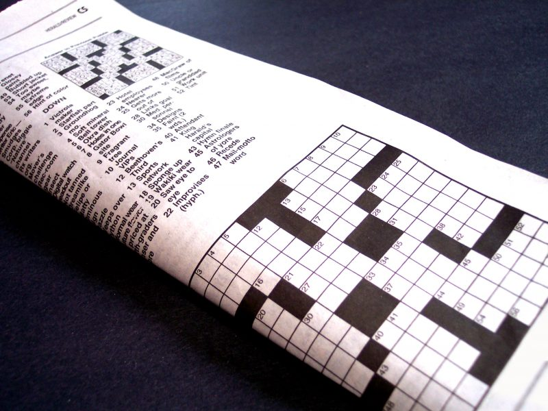 Crossword by cohdra at Morguefile.com