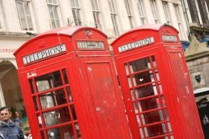 English Phone Booths by kfjmiller at Morguefile.com
