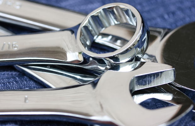 Open Ended and Ring Spanner Wrenches by wallyir at Morguefile.com
