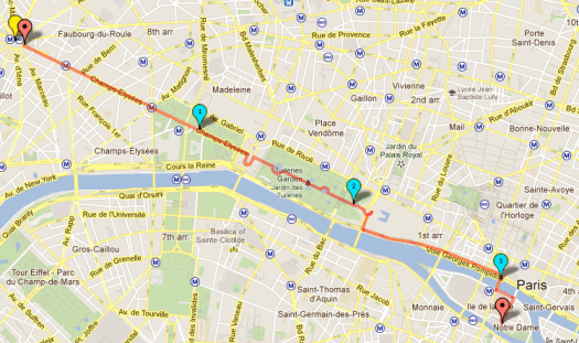 "Walking Tour - ""Royal Tour"" - along the Champs Elysee, from Arc de Triomphe to Louvre"