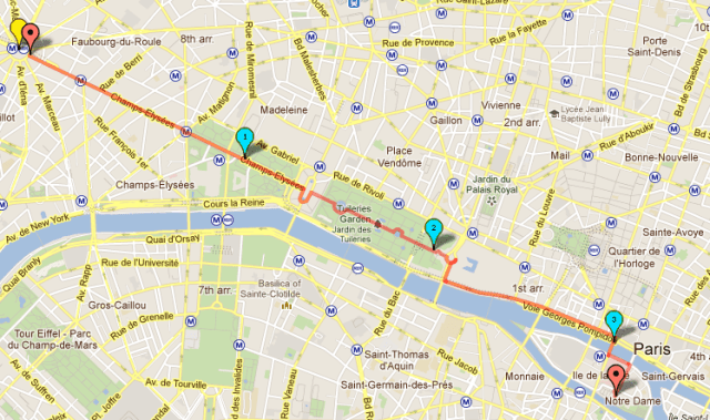 """Walking Tour - """"Royal Tour"""" - along the Champs Elysee, from Arc de Triomphe to Louvre"""