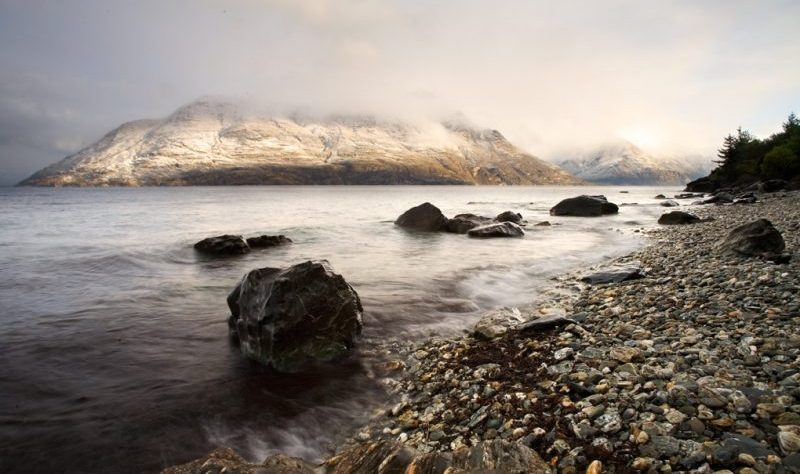 A view on Lake Wakatipu, New Zealand, by lightbox on Morguefile.com