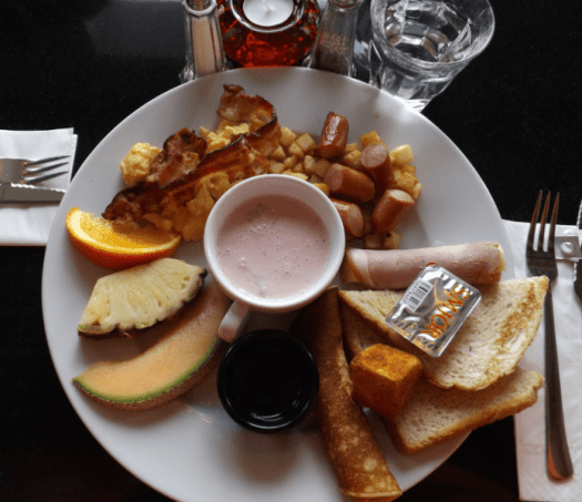 The brunch meal at the Geysir Bistro and Bar in downtown Reykjavik.