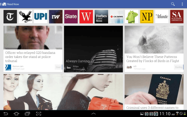 The generic reading view in the revised Google Play Newsstand, which combines Google Play Magazines and Google Current
