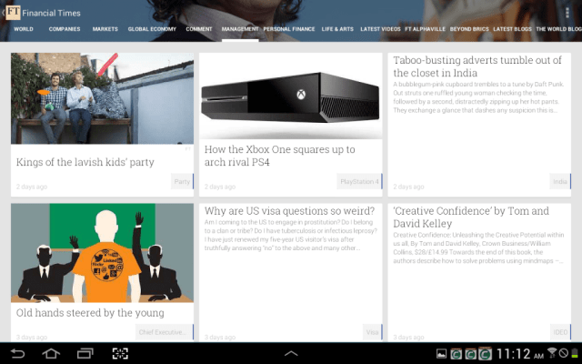 Google Play Newsstand Detail Page for Forbes