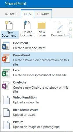Create Other Office Documents in SharePoint 2013 – David Whelan