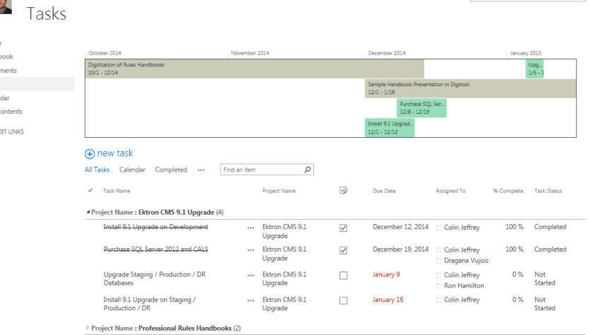 A project timeline dashboard in sharepoint 2013 david whelan a project timeline dashboard in sharepoint 2013 pronofoot35fo Gallery