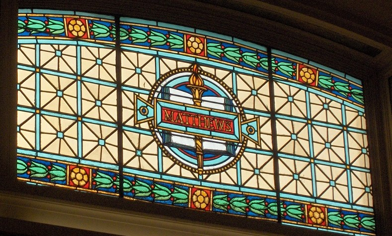 Stained Glass Window from the Cincinnati (Hamilton County, OH) Courthouse Law Library