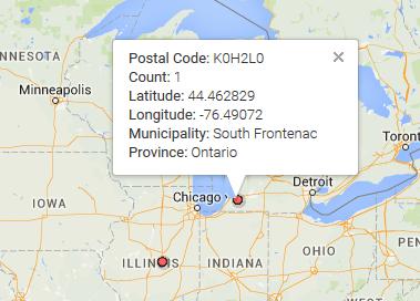 Illinois postcode