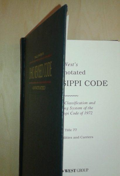 This law books says it contains part of the Ohio Revised Code on the cover, but it is actually the Mississippi Code. Not even the publishers always get it right.