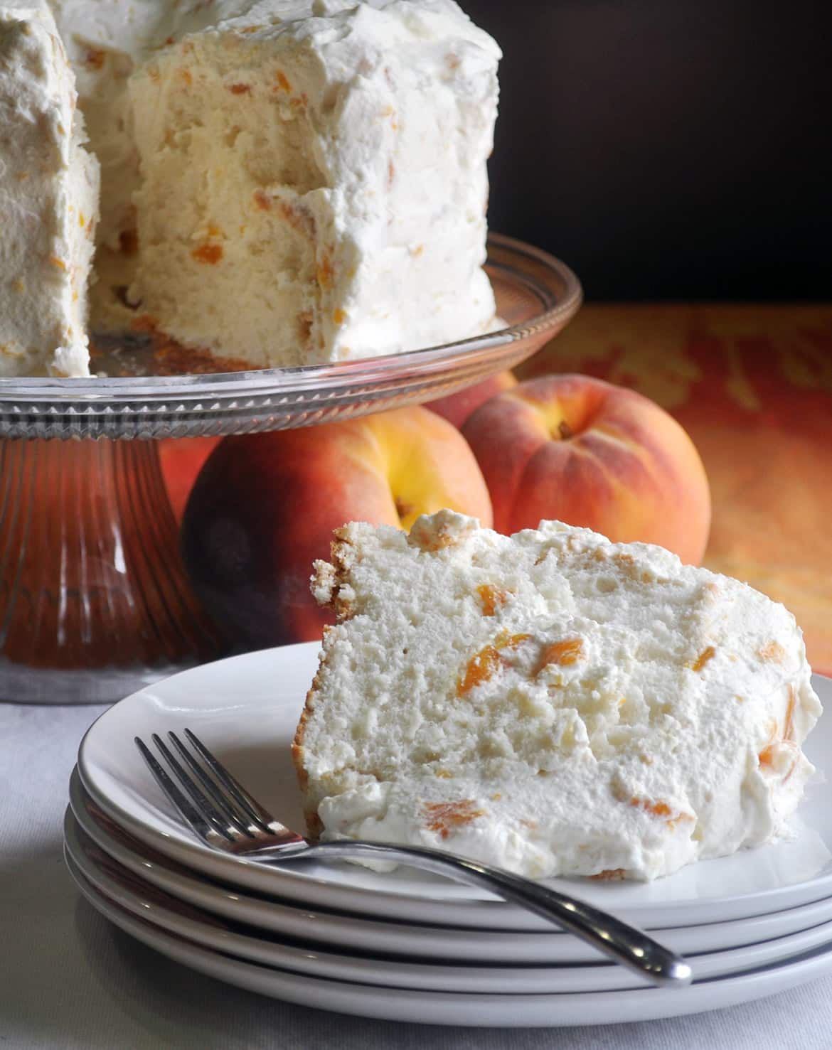 Angel Food Cake Recipe With Peaches And Cream Of Batter