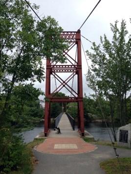 On the Brunswick side of the bridge.
