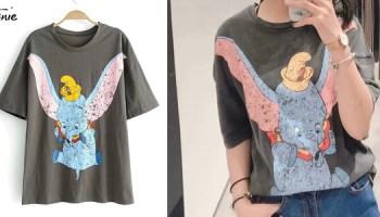 85c0e6eafca7 Chollo Camisetas Dumbo de manga corta para mujer por sólo 11,73€ con envío