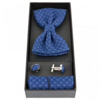 Set Papion, Handmade, Royal Blue, SP09