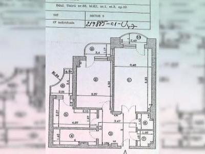 DE VANZARE - APARTAMENT 2 CAMERE DECOMANDATE (1997), 71 mp, 3 balcoane, dependinte, situat in B-dul UNIRII - 68, bloc K2, sc. 1, et. 3 ( vedere spre bulevard - acte la zi, fara datorii ) vizitabil numai:-Vineri 30 mai, orele 1