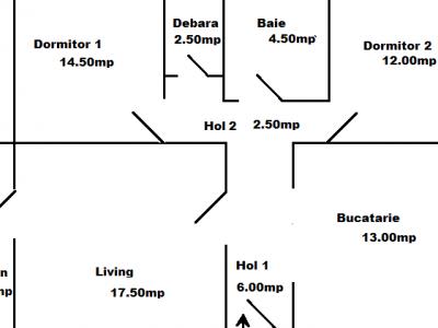 Persoana fizica, vanzare apartament, 3 camere, Vasile Aaron, Sibiu