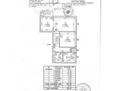 Proprietar vand apartament 3 camere Averescu-Arcul de Triumf