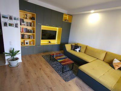 Apartament 2 camere mobilat utilat complet+loc parcare subteran - COSMOPOLIS