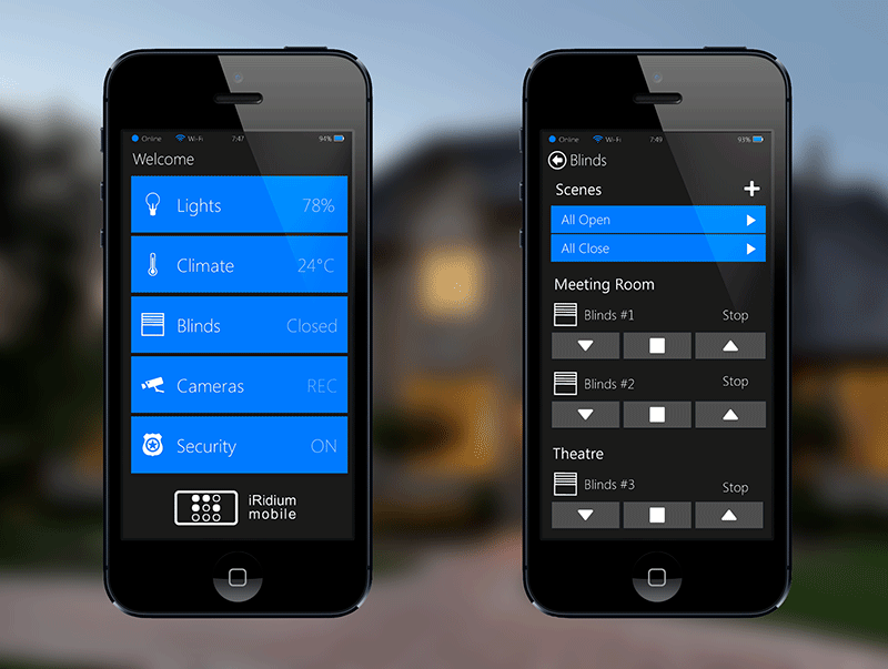 Home Automation Smartphone User Interface
