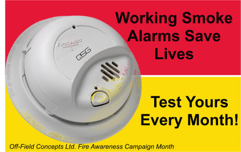 Test Smoke Alarms Monthly