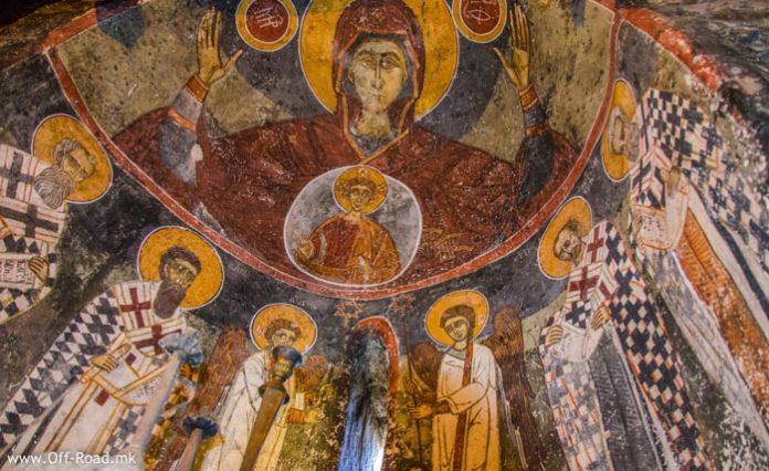 Фрескоживопис Св. Димитриј, село Градешница, Мариово