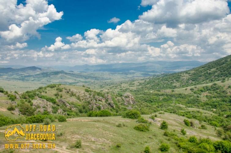 Mariovo region near Makovo village - panorama