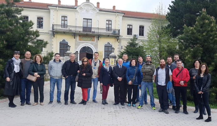 I-TOUR participants in front of Bitola museum