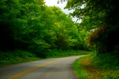 Driving on Blue Ridge Parkway