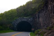 A tunnel on the Blue Ridge Parkway