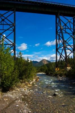 Creek and train tracks