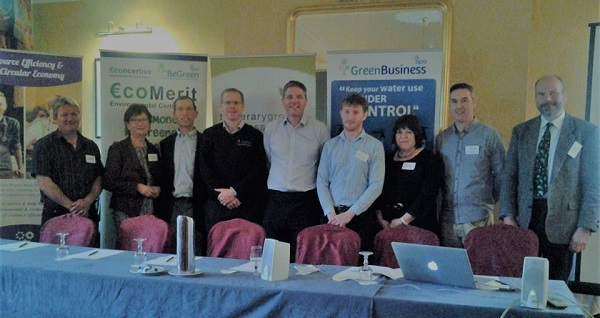 Photo L-R Derry o' Donnell,Zero Waste Cashel, Margaret Murphy, Southern Waste Region Management, Sean O'Farrell, Chairman Tipperary Green Business Network & Cloncannon Biofarm, Conor Stakelum, Stakelum Office Supplies, James Hogan, Green Business Programme, Alan Jackson, Tipperary Energy Agency, Kate Walsh, TGBN, Dave Corboy, Revived and Retro and VOICE Recycling Ambassador VOICE, Phil Walker, EcoMerit Missing from photo is Alan Markin, Allied Irish Banks