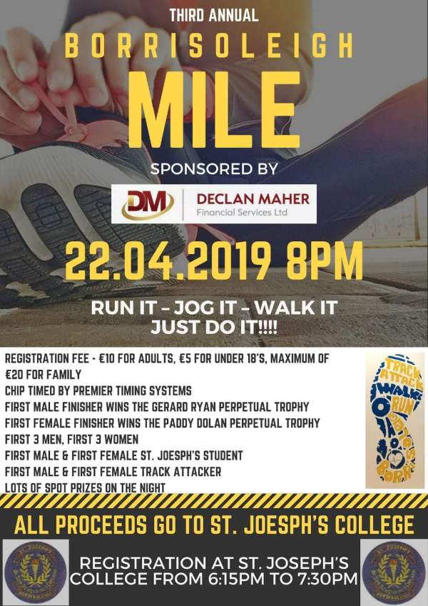 Borrisoleigh Mile Easter Monday 2019
