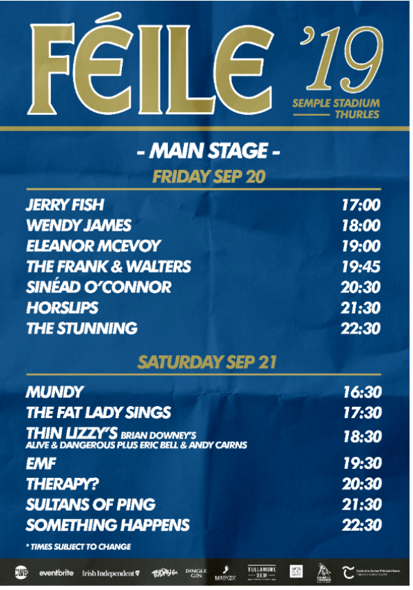 The Countdown is on for Féile '19 taking place this weekend at Semple Stadium