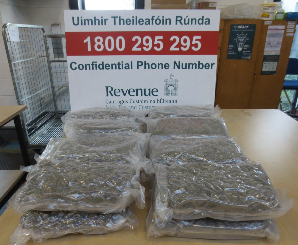 Revenue seize drugs worth €194,000 at Portlaoise Mail Centre