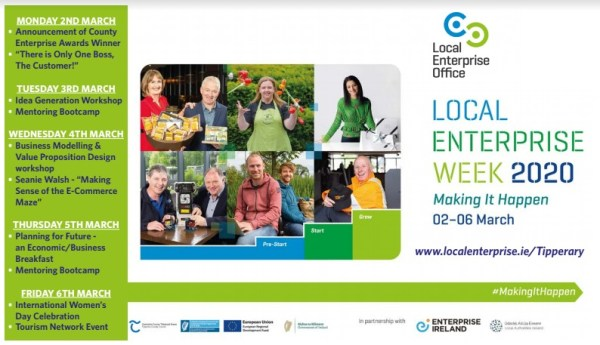 Action packed programme of events announced to celebrate 'Local Enterprise Week' in Tipperary