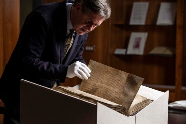 One of the Great Books of Ireland, The Book of Lismore, returns home