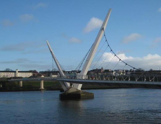 Peace Bridge Derry Northern Ireland