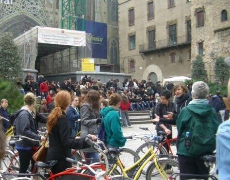 Bike tour in Barcelona Spain
