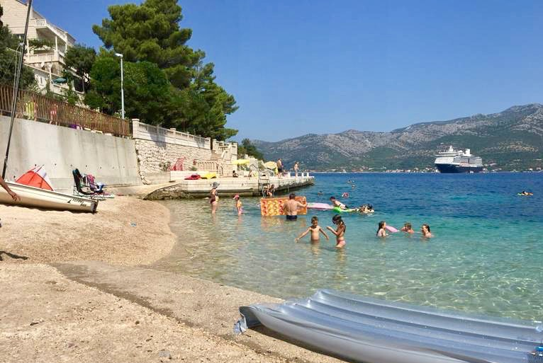 A beach in Korcula
