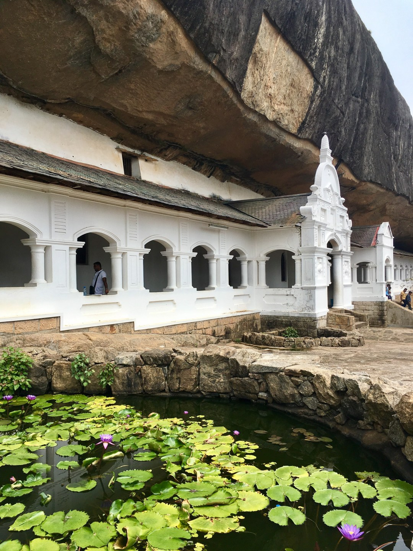 Dambulla is a sacred cave temple in Sri Lanka's Cultural Triangle